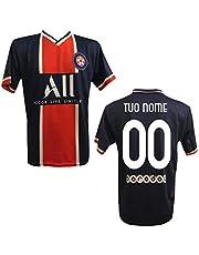 MAESTRI DEL CALCIO Maglia T-Shirt Replica PSG 2020/2021 Bambino Adulto Personalizzata Personalizzabile (Neymar,MBAPPE,ICARDI,VERRATTI,DIMARIA)