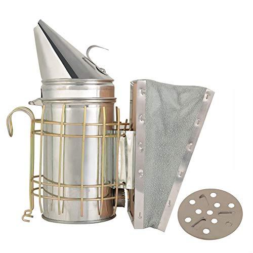 Duokon Ahumador Beehive, ahumador de Colmena de Hierro galvanizado con Equipo de Apicultura con Escudo térmico, Flujo de Aire Superior y excelente Salida de Humo para Apicultura