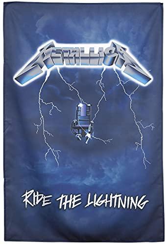 Metallica Ride The Lightning Unisex Bandera Multicolor, 100% poliéste
