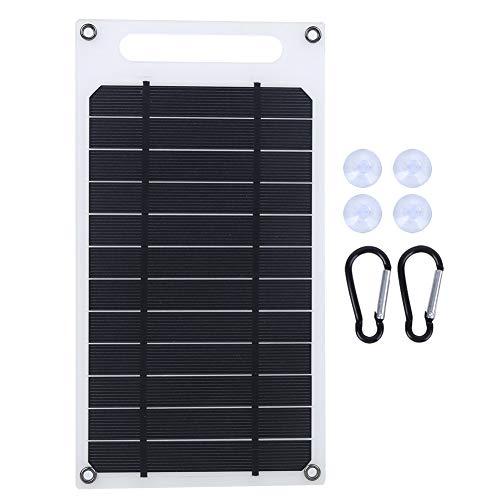 Soapow Cargador de batería portátil del teléfono móvil del tablero de carga del panel solar Ultrafino para al aire libre