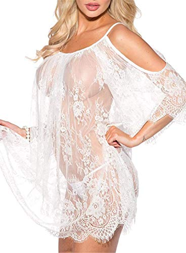 Donna Night Warming Sheer Notte Camicia Wetlook Night Lace da Abbigliamento Festivo Abbigliamento Festivo Warming She Camicette Reiz Warming Babydoll Lingerie Lingerie Set for Donna Bikini Cover Up