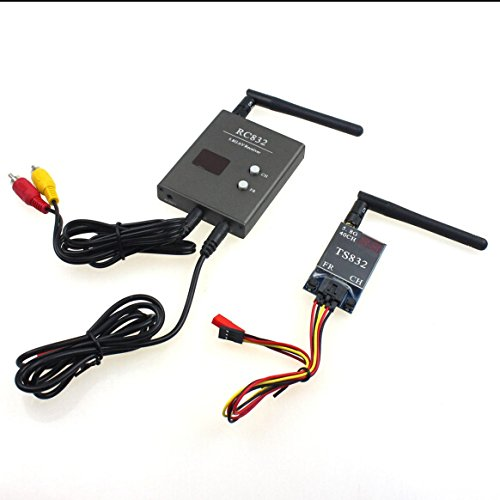 QWinOut FPV 600mW 40CH Wireless AV A/V Transmitter Receiver TS832 RC832 Tx & Rx Set for Professional Drones RC Plane Compatible for DJI Gopro DIY Aerial Photography