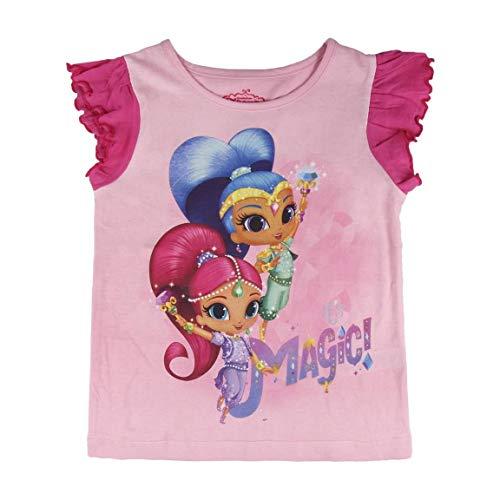 Shimmer And Shine S0712792 Camiseta, Rosa, T04 Unisex niños