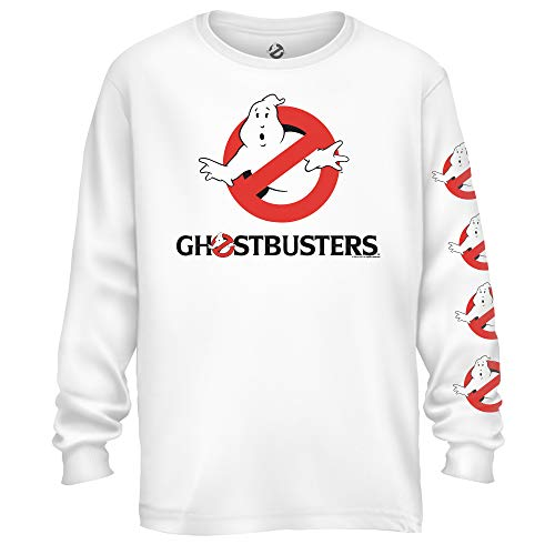 Ghostbusters 80s Logo White Long Sleeve T-Shirt for Men, S to XXL