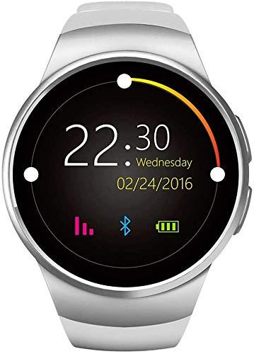 Wzmdd Fitness Tracker met hartslagmeter, Calorie teller stappenteller slaapbewaking, kleurenscherm IP67 waterdichte Bluetooth Call Watch, Gold-OneSize, OneSize, Kleur: wit