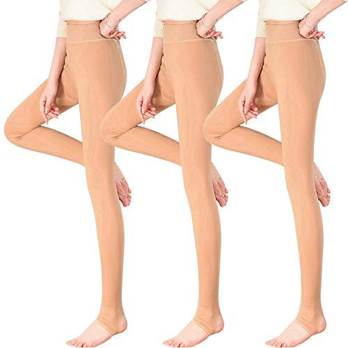 Vertvie Thermo Panty voor dames, 1/2/3 stuks, met binnenfleece voor herfst en winter