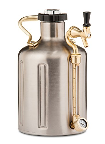 uKeg 128 Carbonated Growler for Craft Beer, Stainless Steel