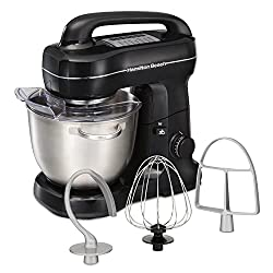 top rated Hamilton Beach Electric Table Mixer, Tilt Head, 4 liters, 7 Speed with Whisk, Fabric Hook, Flat … 2021
