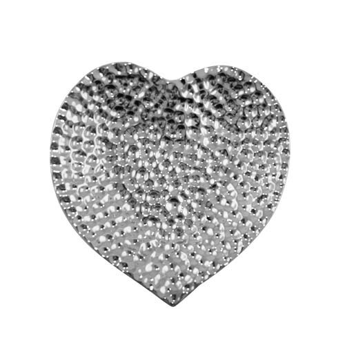 Kaheku Teller Levano Herz Silber 19x18,5x3cm