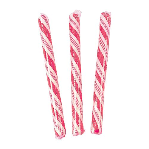 Candy Canes (80 individually wrapped sticks) Fun for parties, weddings and gender reveal (Pink)