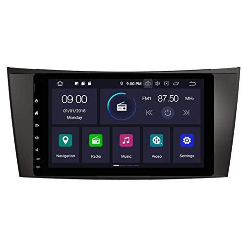 Android 10 Car DVD GPS Radio EstKLLeacute;REO Unidad Principal NavegaciKLLoacute;n 64GB BT 4GB Ram WiFi para Mercedes Benz Clase E W211 CLS W219 2002-2011 Bluetooth Steeirng Wheel Control