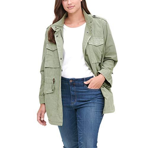 Levi's Women's Plus Lightweight Parachute Cotton Military Jacket (Standard & Plus Sizes), Light Green, 2X