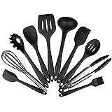 Conjuntos de utensilios Set de utensilios de cocina de silicona - 10 unids silicona utensilios de cocina no palo utensilios de cocina herramienta de cocción espátula cucharón huevo batidores pala cuch