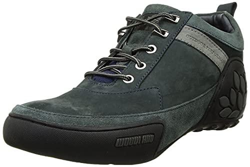 Woodland Men's DNAVY Leather Sneaker-7 UK (41 EU) (OGC 3497119)