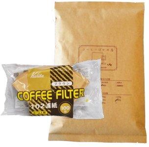 カリタ102コーヒーフィルター 2〜4人用 100枚入り アメリカン・ブレンド/浅煎り 400g 40杯〜55杯 [中挽き] コーヒー豆/浅入り