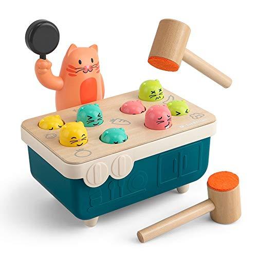 Lihgfw Hamster Spielzeug 2-16 Jahre alte Kinder frühe Bildung Educational Puzzle Jungen und Mädchen Katzen- und Mäusekrieg Percussion Spiel Spielzeug (Color : Multi-Colored)