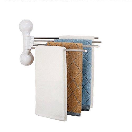 NYSCJJJ Barra de Toalla giratoria, Toallero de baño ABS de 4 Brazos, Juego de Accesorios de baño, Blanco 22.5cm * 32cm * 6.8cm