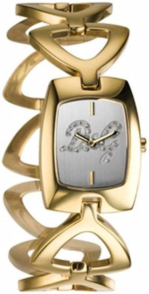 Dolce & gabbana, orologio da donna, in acciaio con trattamento ip oro, quadrante con cristalli DW0389
