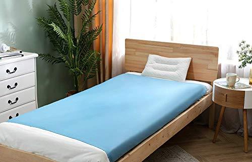 Sábana de compresión sensorial para niños y adultos Snoozzzy - La mejor alternativa a las mantas con peso (cama individual, azul)