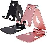 Soporte de teléfono celular para ángulo de altura ajustable, soporte de aluminio resistente para teléfono móvil, compatible con iPhone, iPad, todos los smartphones Android (P+ B)