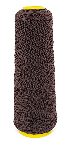 Young Hair 1mm 500 Yards Stretchy Sewing Thread Elastic Rubber Thread for Human Hair Knots(Dark Brown)