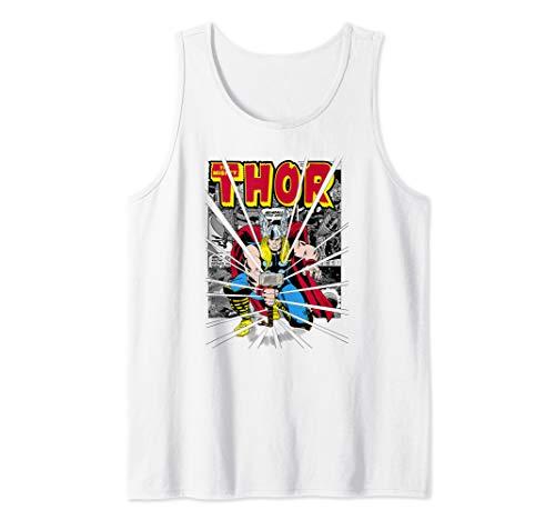 Marvel Thor The Power Of Mjolnir Comic Background Logo Tank...