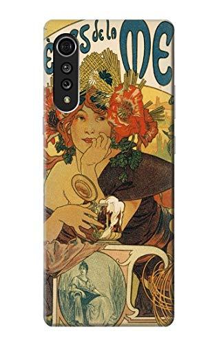 Innovedesire Alphonse Mucha Bieres De La Muse Hülle Schutzhülle Taschen für LG Velvet