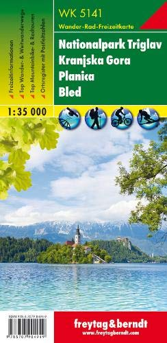 WK 5141 Nationalpark Triglav - Kranjska Gora - Planica - Bled, Wanderkarte 1:35.000: Wandel- en fietskaart 1:35 000 (freytag & berndt Wander-Rad-Freizeitkarten)