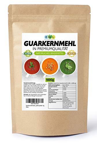 Guarkernmehl Verdickungsmittel Bindemittel E 412 3.500 cps low Carb Guar Gum Geprüfte Qualität 1 kg