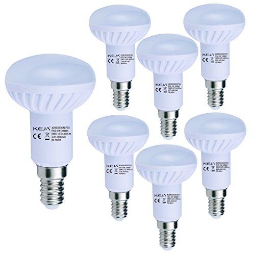 LED FACTORY 6W E14 LED Lampen 480lm Warmweiß, Ersatz für 60W Glühlampen, 2800K, 120° Abstrahlwinkel, LED Birnen, LED Leuchtmittel, 6er Pack