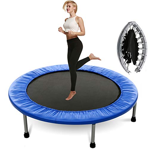 Plohee Fitness Workout Mini Rebounder Trampoline Covered Bunge for Indoor Garden Workout Cardio Exercise (Color3)