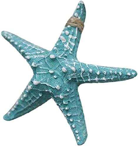 Aerobin in resina con stella marina, decorazione da parete in stile mediterraneo, decorazione da parete in resina, decorazione per la casa, stile retrò, decorazione da parete, 13 cm (verde)