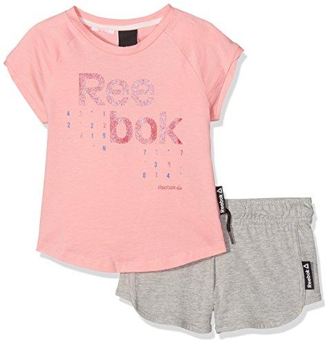 Reebok G ES SS Set, niña, Rosa, 4 Años