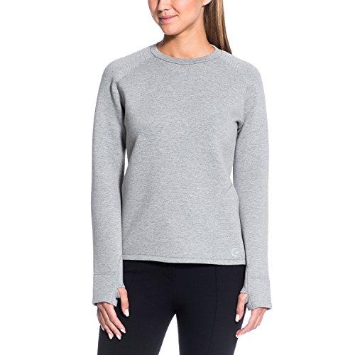 Gregster - Sweatshirt tendance - Modèle Greyla - Manches longues - Matière ultra légère - Coupe actuelle - Gris clair