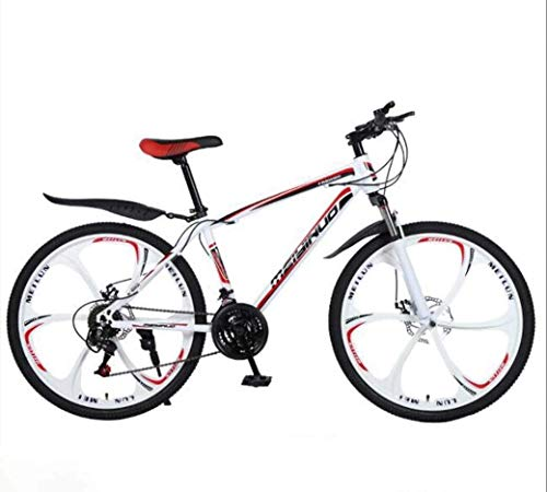 PARTAS Advanced Riders, 26In 21-Speed Mountain Bike for Adult, Lightweight Carbon Steel Full Frame, Wheel Front Suspension Mens Bicycle, Disc Brake (Color : D, Size : 24Speed)