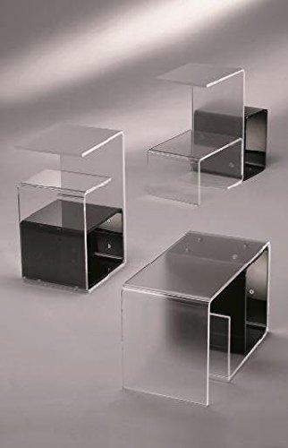 Ideapiu Idea Tables en verre et méthacrylate Table en plexiglas modulable, modèle aimanté