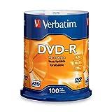 Verbatim DVD-R 4.7GB 16x AZO Recordable Media Disc - 100 Disc Spindle - 95102