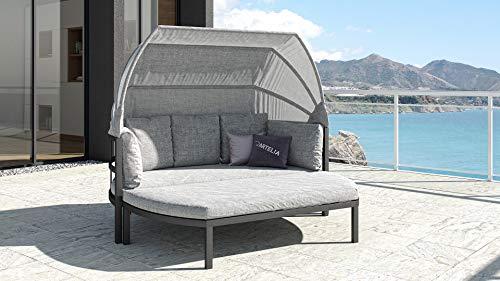 ARTELIA - Fabrizia Alu Sonnenliege, Relaxliege, Relaxmuschel Sonneninsel, Aluminium Anthrazit