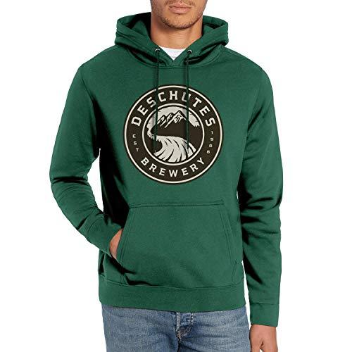 WintyHC Men Hoodie Deschutes-Brewery-Black-Butte-Logo- Heavyweight Fleece Soft Pullover Sweaters