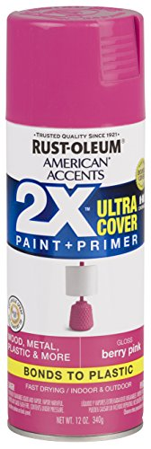 Rust-Oleum 327876 American Accents Spray Paint, 12 oz, Gloss Berry Pink