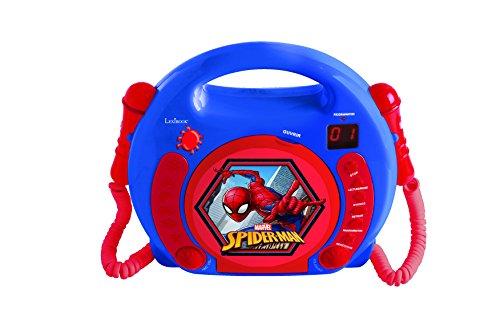 Lexibook Marvel Spider-Man Peter Parker CD player for kids with 2 toy...