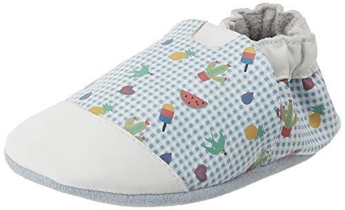Robeez Baby-Jungen Tattoo Style Hausschuhe, Weiß, Weiß, Hellblau, 33, 25/26 EU