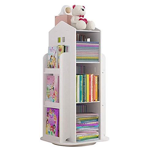 3-voudig draaibaar creatief 360 ° boekenrek voor kinderen, boekenkast eenvoudige demontage boekenplanken eenvoudig studentenrek, de beste cadeau-keuze