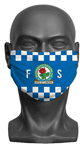 Personalised Blackburn Rovers FC Initials Adult Face Mask- Large