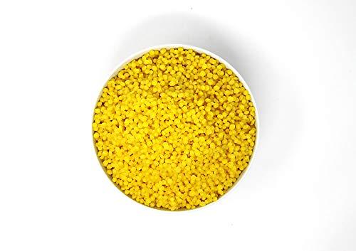 100g 100% Reine Bienenwachs Pastillen 100 Gramm 0,1kg | Perfekt geeignet für Kosmetik & Kerzen + Wachstücher Herstellung | 100% natur | deutsche Marke molinoRC®