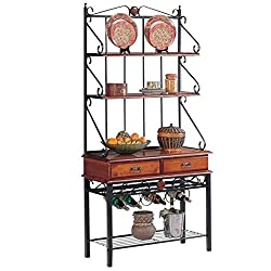 Best bakers rack for kitchen with wine storage 11 Kitchen Affairs