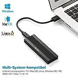 BEYIMEI USB 3.1 UASP Type-C zu NVMe M.2 Hochleistungs-PCIe SSD-Adapter, Portable HDD-Gehäuse für Samsung, Kingston, ADATA, DREVO & mehr NVMe Externe Solid State Drives, Schwarz