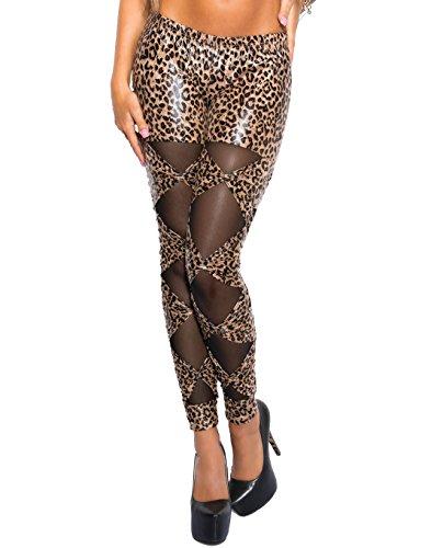 Berry Belle Sexy Glamour Stretch leggings LOOP onderlegger met net One Size