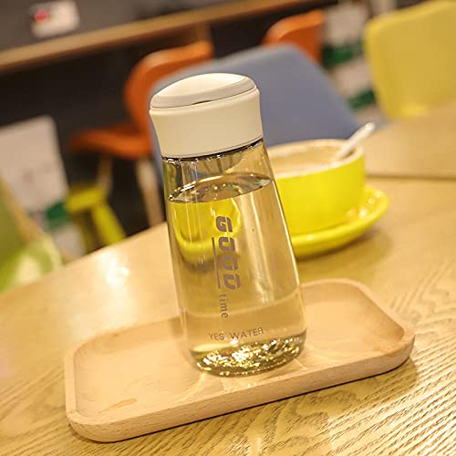 Botella de Deportiva-Motivacional, Antigoteo -para Niños, Colegio, Escolar, Gym, Oficina -gris_400ml