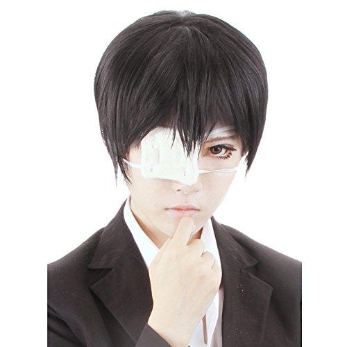 HH Building Tokyo Ghoul Kaneki Ken Cosplay Wig Anime Costume Party Black Hair